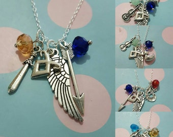 Parabatai necklaces inspired by The Shadowhunter books