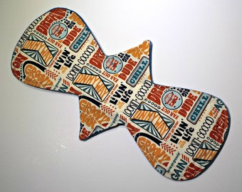 Reusable Cloth Pad/Regular/Moderate 13 inch Groovy