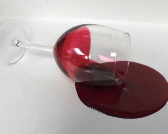Spilled wine glass makes a great gag gift