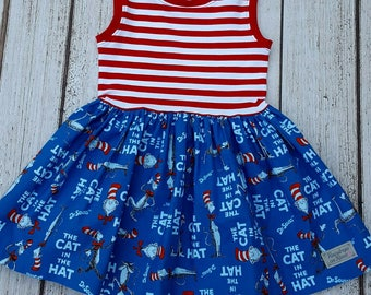 Cat in the Hat sleeveless dress 3T
