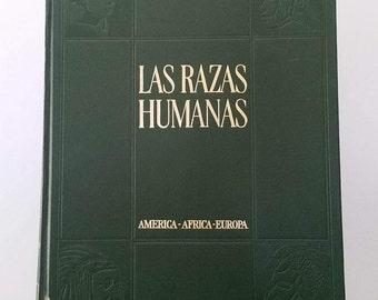 Spanish Book Las Razas Humanas Tomo II En Espanol The Human Races Volume II In SPANISH 1973 Collectible History Book