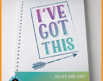 Slimming World Food Diary, SW compatible. Personalised food tracker, weight-loss food journal. I've Got This.