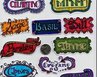 Herb Labels Stickers
