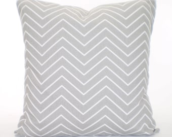 Gray White Chevron Pillow Cover Decorative Throw Pillows Cushions Storm Grey White Chevron Pillow Throw Pillow Couch Bed Sofa ALL SIZES
