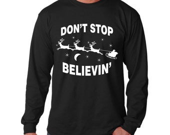 "Shop ""dont stop believing santa"" in Men's Clothing"