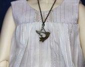 BJD doll SD accessory Luts Volks Iplehouse vintage cute charm crystal teardrop bead necklace pendan