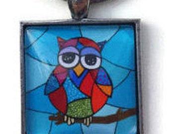 Owl keychain, keychain, owl, owl lover gift, owl lover, keychains owl, handmade keychain