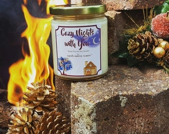 WINTER CLEARANCE- 40% Off - Holiday Clearance -Cozy Nights with You - 9 oz Soy Candle - Holiday Soy Candle - Seasonal Soy Candle