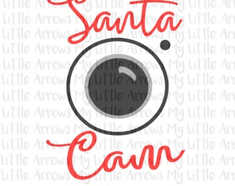 Santa Cam SVG, DXF, EPS, png Files for Cutting Machines Cameo or Cricut - fun teacher christmas svg- Cute Christmas svg - Fun holiday svg