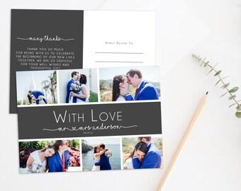 Wedding Thank You Postcard, Wedding Photo Postcard, Wedding Thank You, Wedding Thank You Card With Photo, Photo Thank You Wedding