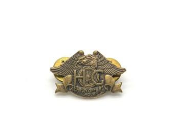 Vintage Harley Davidson pin. 1983 Harley Davidson Owners Group eagle bronze pin. Collectible pin.