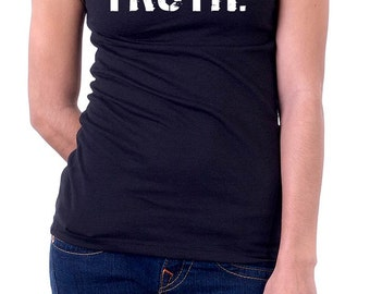 The BLACK & WHITE Line - oneWORD TRUTH Tee