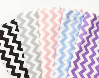 CHEVRON FABRIC By The Yard, Zig Zag, Stripe cotton fabric, 100% Cotton Fabric by yard, fat quarter, half yard, yard