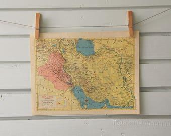 1955 Vintage Iran Map
