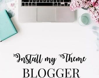 Install my Blogger Theme