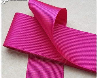 Pink Grosgrain Ribbon - 4cm x 3m - Single Sided - Great for crafts and giftwrap