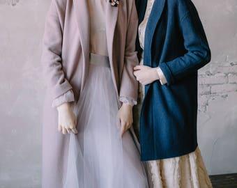 Dark-blue wool cardigan - 0140 // 2017