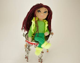 Art and collectibles Gift for daughter Amigurumi dolls Art dolls Girl doll Baby girl Gift Kids gift Girl gifts OOAK doll Gift for kids