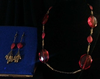Golden Red Jewelry Set