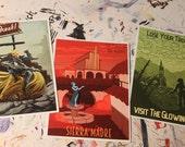 Wish You Were Here - 5x7 Fallout Postcard Set