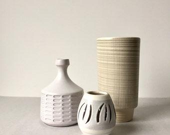Vintage West German pottery, vases, set of three vases, Scheurich pottery, mid century vase, West German pottery, vase mid century