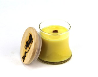 Pina Colada - Soy Candle, Woodwick Candles, Scented Candles, Soy Wax, Handmade Candles, Wood Wick Candle, Pina Colada Candle, Summer Candle