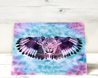 Leopard Birthday Card - Leopard Greeting Card - Cat Card - Blank Card - Bohemian Card - Card for Her - Card for Him