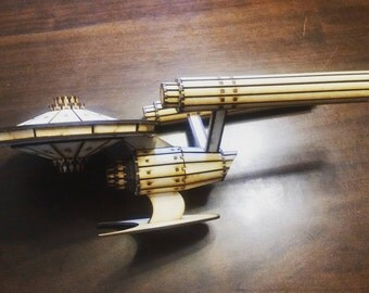 Similar to Star Trek Enterprise wood laser cut model