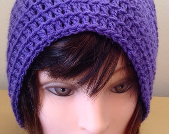 Textured Slouch Hat >> Hand Crocheted  >>  Ladies/Teens >> Beanie >> Bobble Hat >> Winter Hat >> Fashionable