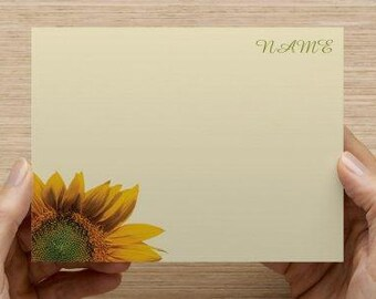 Sunflower Stationary/ Note Card (Flat)