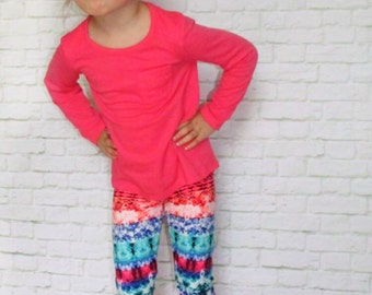 Baby Leggings - Girls Leggings - Baby Girl Leggings - Aztec Leggings - Toddler Leggings - Fashion Leggings - Colorful Leggings - Leggings