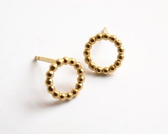 Silver studs balls, gold plated