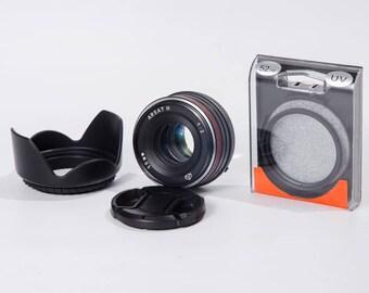 ARSAT H Nikon Refurbished - Nikon F - DSLR Lens - 1 : 2 - 50 mm - DSLR camera lens - Red bordo lens