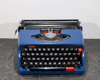 Vintage blue Brother deluxe 250TR typewriter