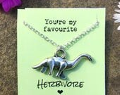 Dinosaur charm necklaces with quote card. Perfect little gifts!