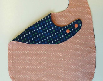 Baby Bib, Baby Girl Bib, Pink Baby Bib, Toddler Girl Bib, Large Toddler Bib