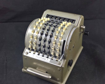 Vintage calculator mechanical calculator Summira 7 mechanical computer vintage computer cast iron check register counter, retro