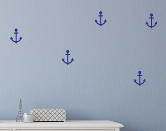 Anchor shape wall stickers . Anchor wall decals
