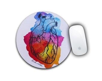 Anatomy Mousepad, Medical Gift, Doctor Office Decor, Medical School Gift, Anatomical Mousepad, Computer Accessory, Human Heart Mousepad
