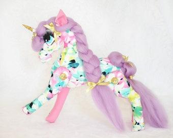 Bespoke Whimsical Unicorn/Horse Doll