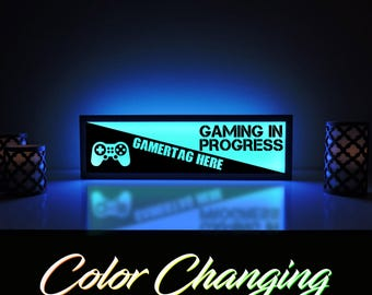 Video Game Sign, Custom Gamer Name, Gamer Tag, Gaming Name, Video Game Decor, Gaming Light, Playstation, Gamer Sign, Video Game Light