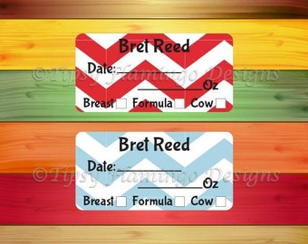 160 Removable Baby Bottle Labels, Personalized Breast Milk Labels for Babies, Formula Labels, Daycare Labels, Milk Labels -TFD475