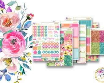 POOLSIDE // Full Weekly Planner Sticker Kit for Erin Condren Vertical Life Planner