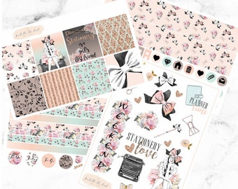 Erin Condren Horizontal Stationery is a Girl's Best Friend Weekly Kit Planner Stickers