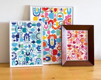 Kaleidoscope Customised Abstract Poster, Kaleidoscope Print, Personalised Abstract Art Print, Personalized Art, Custom Abstract Print