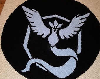 Pokemon Team Mystic Handmade Rug 30 inches