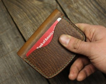 50% OFF Handcrafted leather credit card wallet, Business card case, Front pocket wallet, Men's gift, EDC, Groomsmen