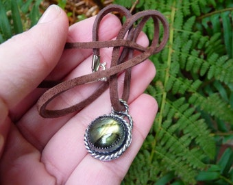 Labradorite Silver Pendant Necklace, Labradorite Necklace, Labradorite Jewelry, Necklace, Pendant, Jewelry, Native American, Labradorite