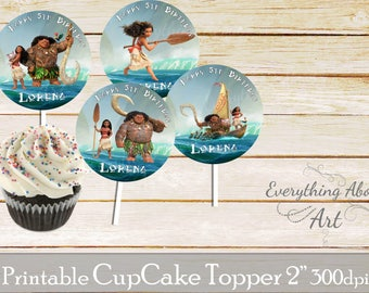 Moana Cupcake toppers printable, Moana and friends birthday, Printable cupcake toppers, Birthday party supplies, Moana cupcake toppers