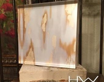 Modern Acrylic Art Block 5x5x1 by Heather L. Walsh